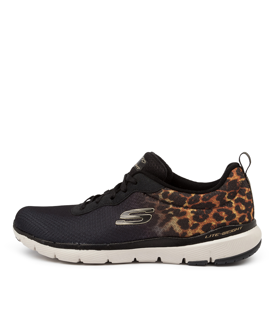 Buy Skechers 13476 Flex Appeal 3.0 Sk Black Gold Sneakers online with free shipping