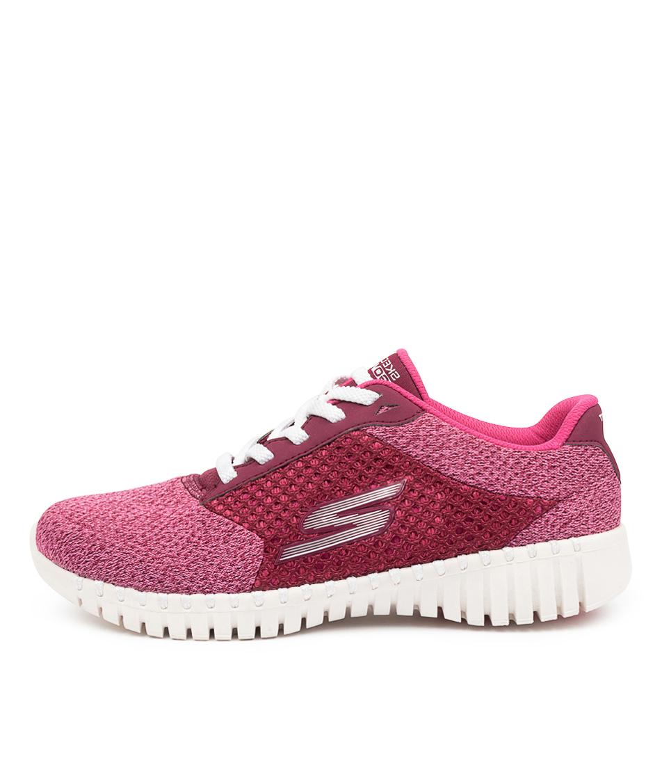 Buy Skechers 16704 Go Walk Smart Influ Sk Raspberry Sneakers online with free shipping