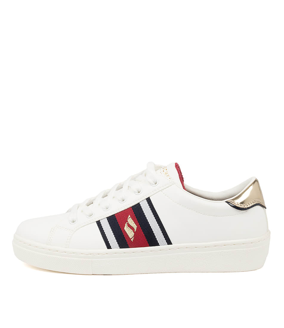 Buy Skechers 73814 Goldie Collegiate Crz Sk White Sneakers online with free shipping