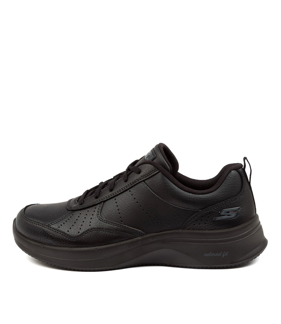 Buy Skechers 124111 Go Walk Steady Sk Black Black Sneakers online with free shipping