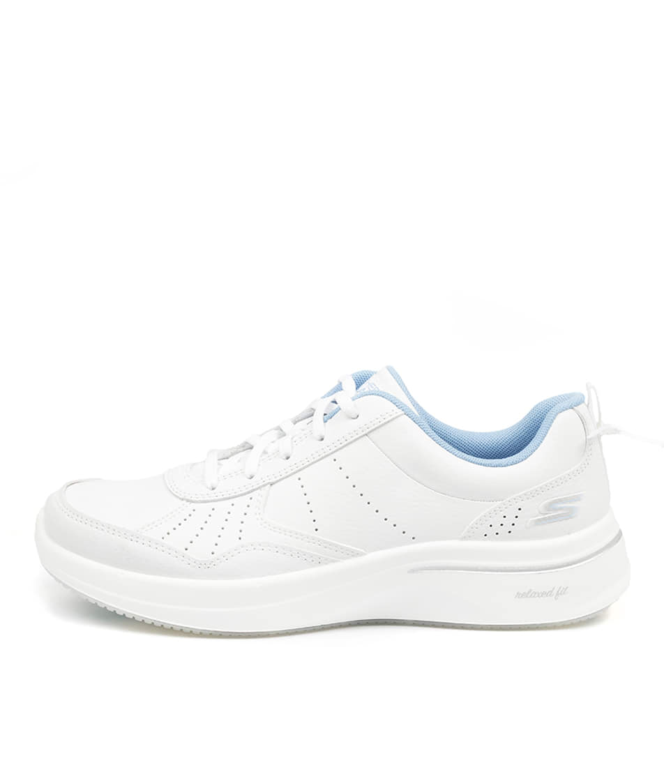 Buy Skechers 124111 Go Walk Steady Sk White Blue Sneakers online with free shipping