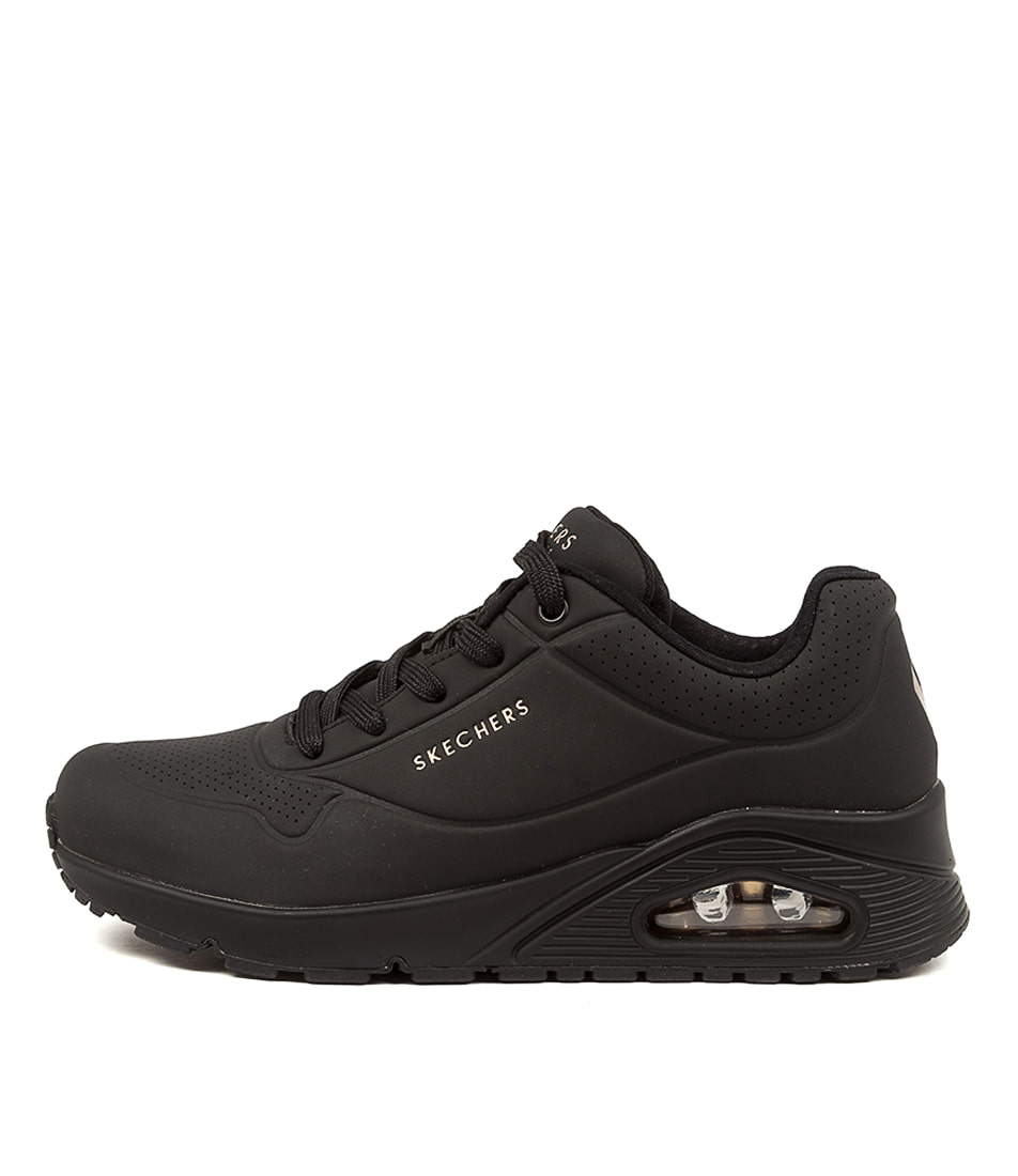 Buy Skechers 73690 Uno Stand On Air Sk Black Sneakers online with free shipping