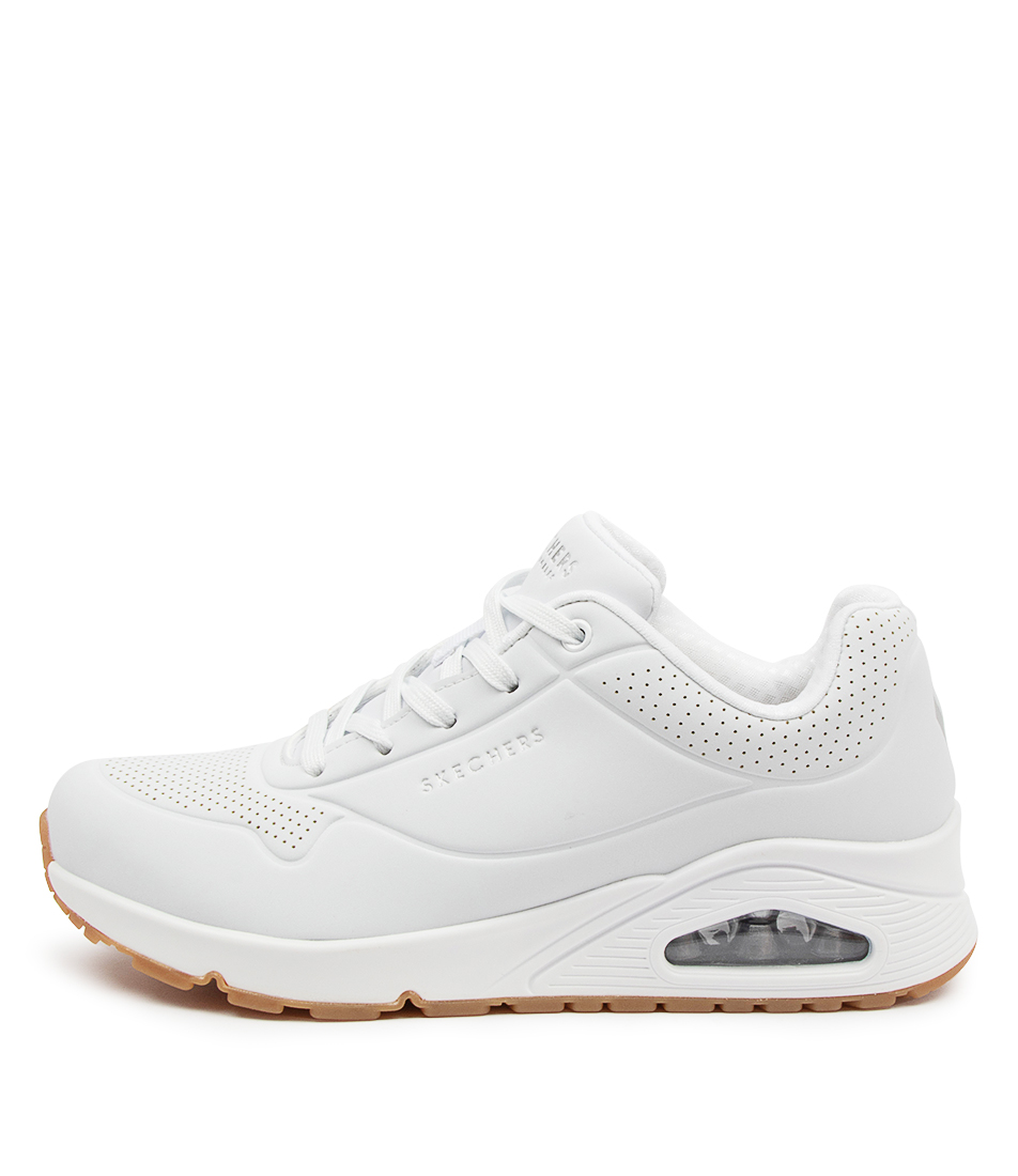Buy Skechers 73690 Uno Stand On Air Sk White Sneakers online with free shipping