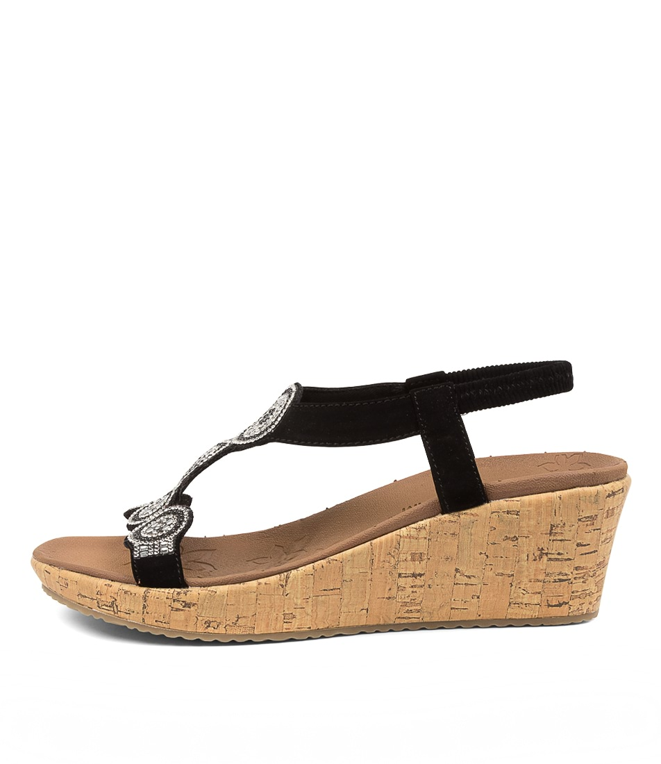 Buy Skechers 119010 Beverlee Date Glam Sk Black Heeled Sandals online with free shipping
