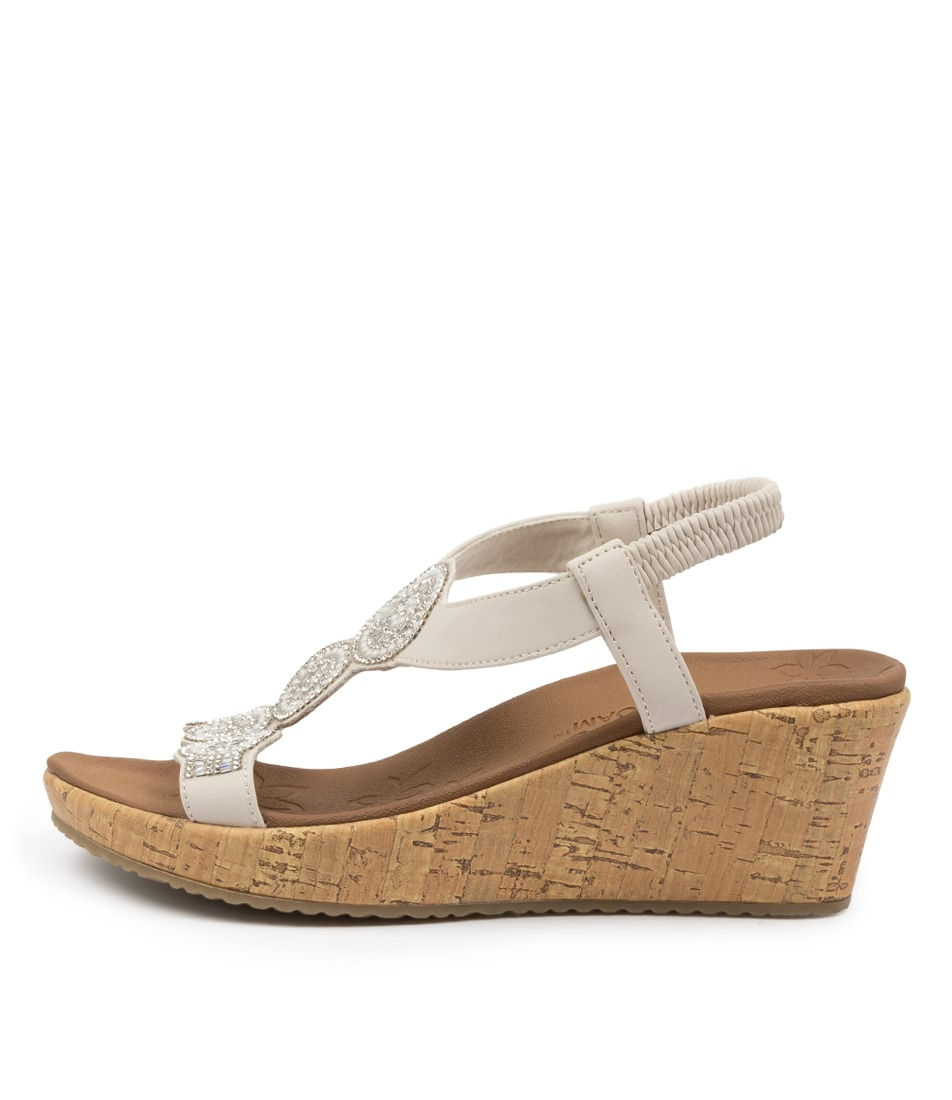 Buy Skechers 119010 Beverlee Date Glam Sk Off White Heeled Sandals online with free shipping