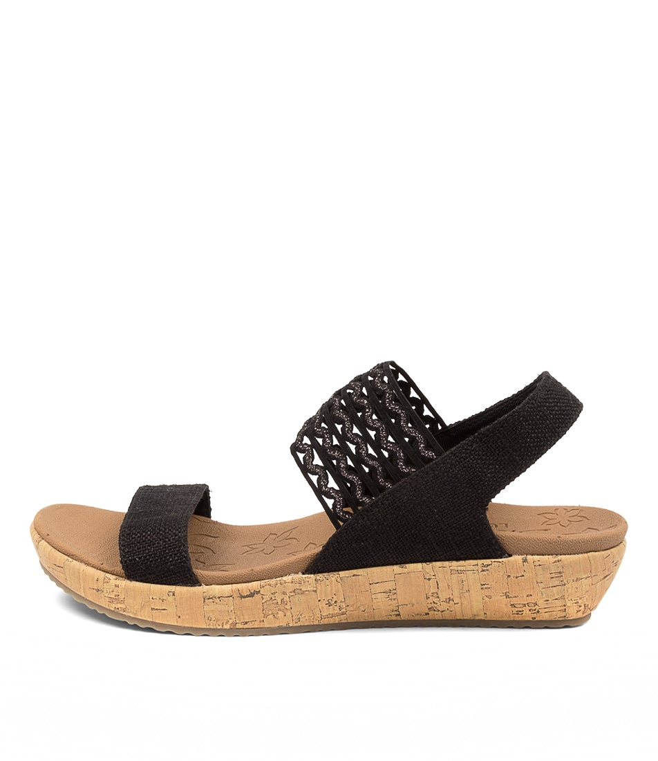 Buy Skechers 119013 Brie Most Wanted Sk Black Flat Sandals online with free shipping