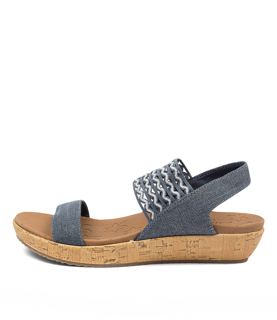 Buy Skechers 119013 Brie Most Wanted Sk Navy Flat Sandals online with free shipping