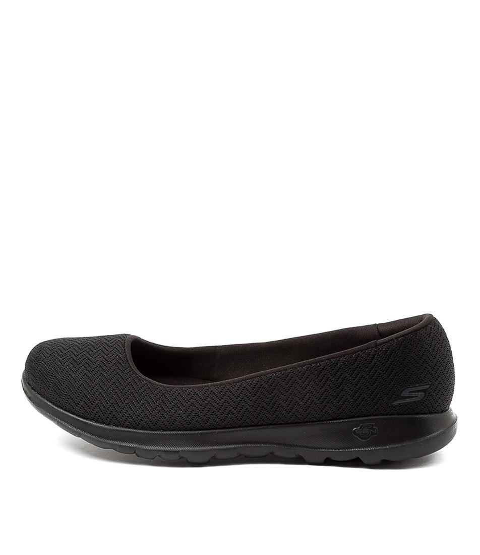 Buy Skechers 136000 Go Walk Lite Sk Black Black Flats online with free shipping