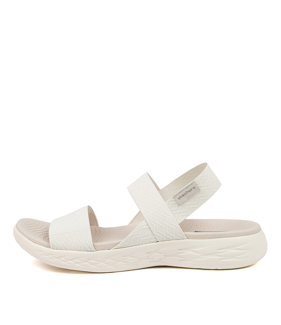 Buy Skechers 140026 On The Go 600 Gt Sk White Flat Sandals online with free shipping