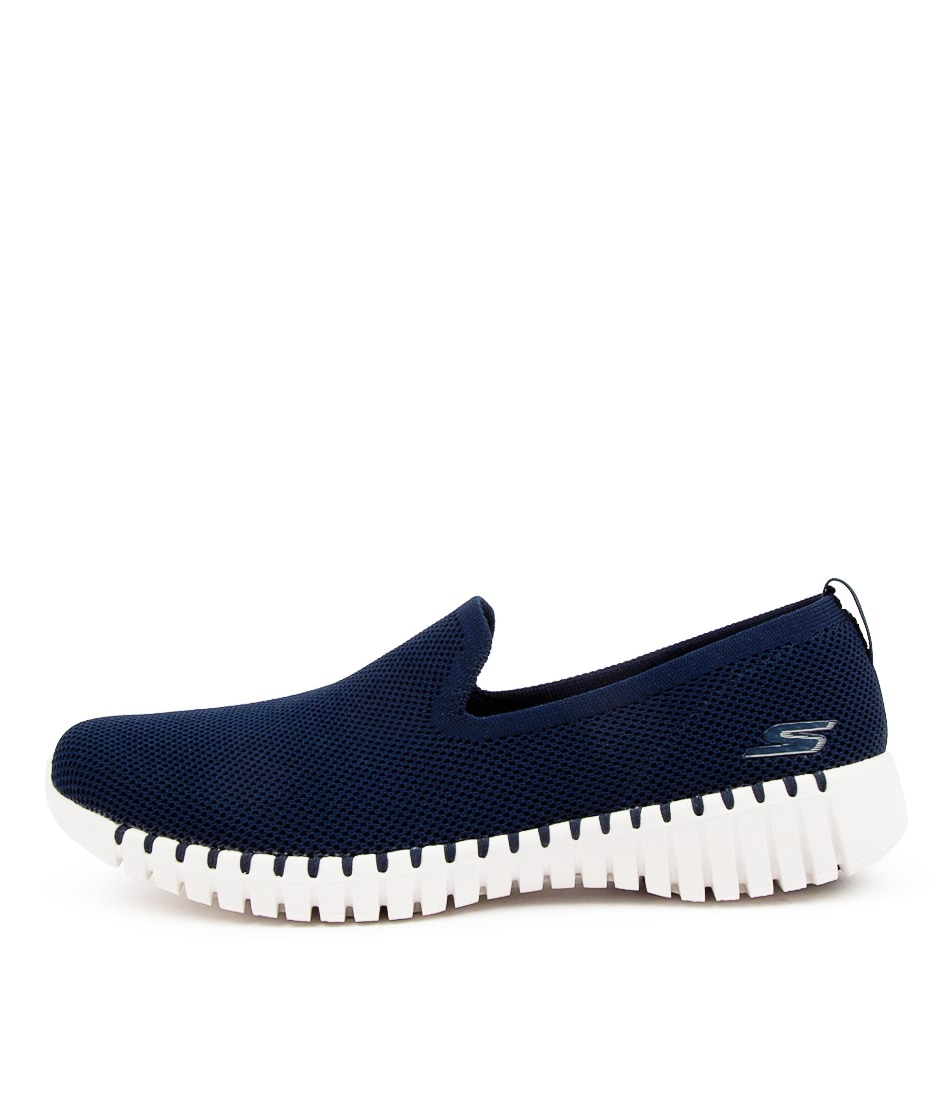 Buy Skechers 124296 Go Walk Smart B Sk Navy White Sneakers online with free shipping
