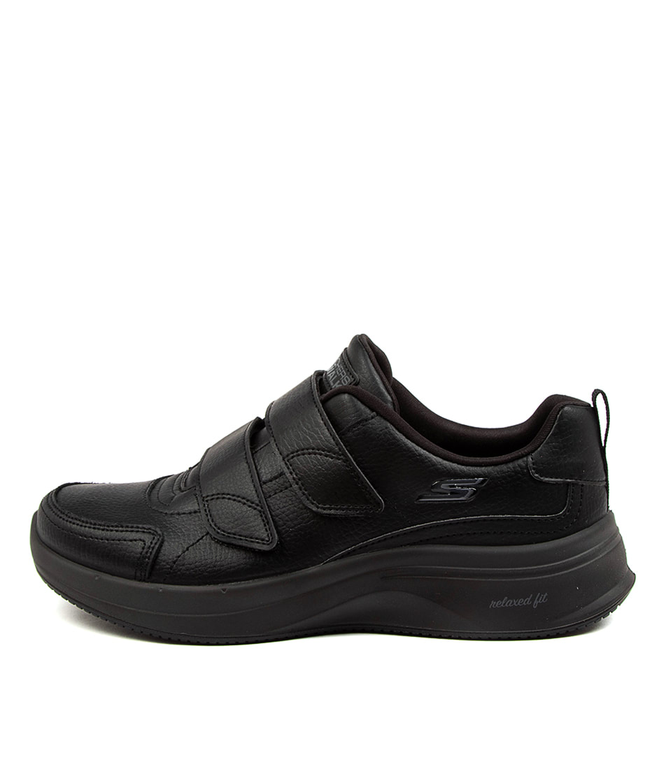 Buy Skechers 124116 Go Walk Steady Loyal Sk Black Black Sneakers online with free shipping