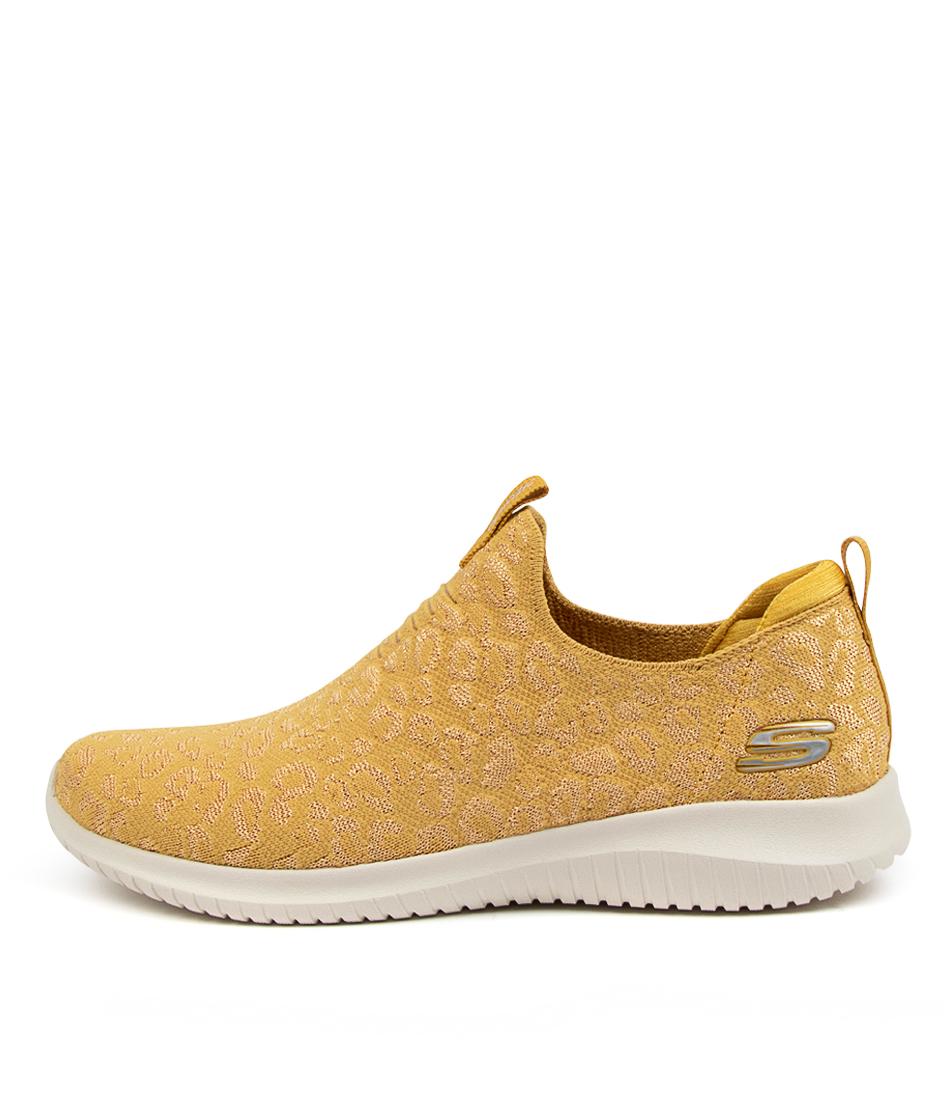 Buy Skechers 149177 Ultra Flex W J Sk Yellow Sneakers online with free shipping