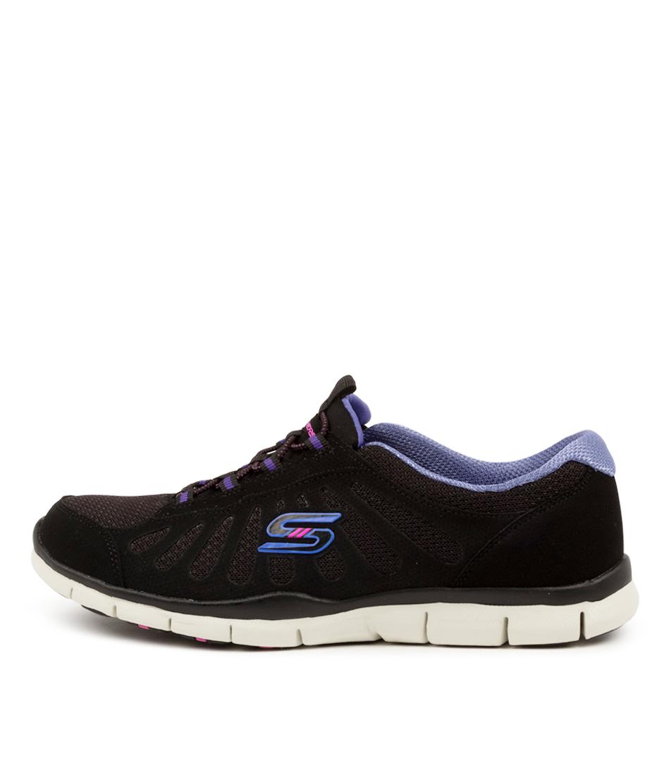 Buy Skechers 104150 Gratis B M Sk Black Purple Sneakers online with free shipping