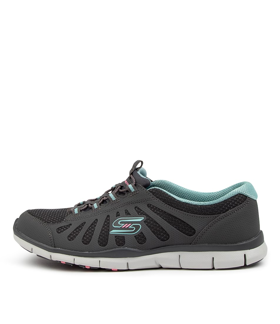 Buy Skechers 104150 Gratis B M Sk Charcoal Light Blue Sneakers online with free shipping