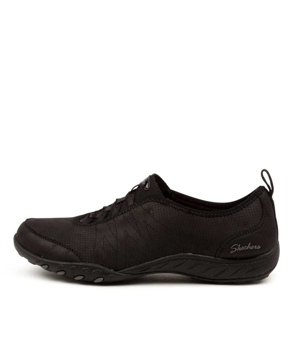 Buy Skechers 100214 Breathe Easy S S Sk Black Sneakers online with free shipping