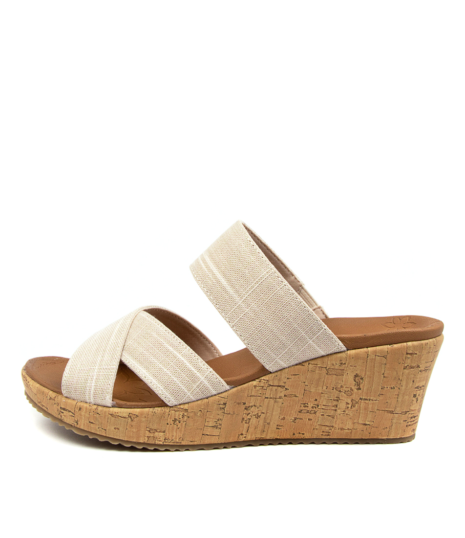 Buy Skechers 119077 Beverlee C D Sk Natural Heeled Sandals online with free shipping