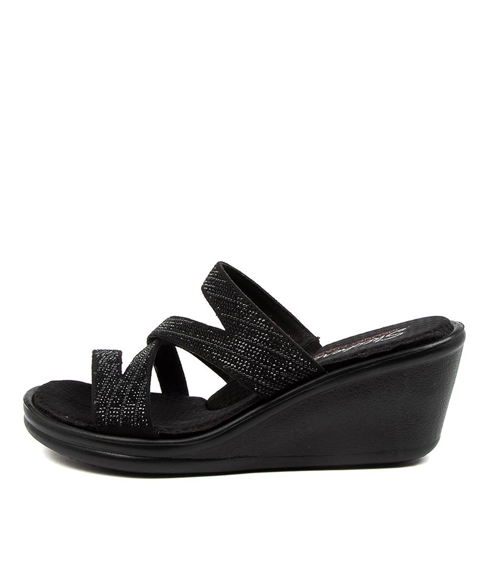 Buy Skechers 32925 Rumblers Mega Flash Sk Black Black Heeled Sandals online with free shipping