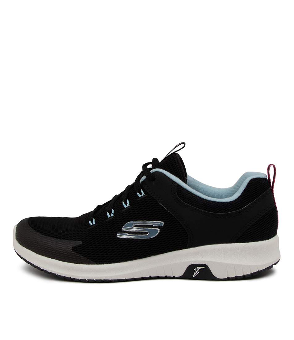 Buy Skechers 149398 Ultra Flex Prime Sk Black Light Blue Sneakers online with free shipping