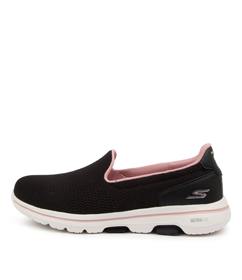 Buy Skechers 124244 Go Walk 5 Sk Black Light Pink Sneakers online with free shipping
