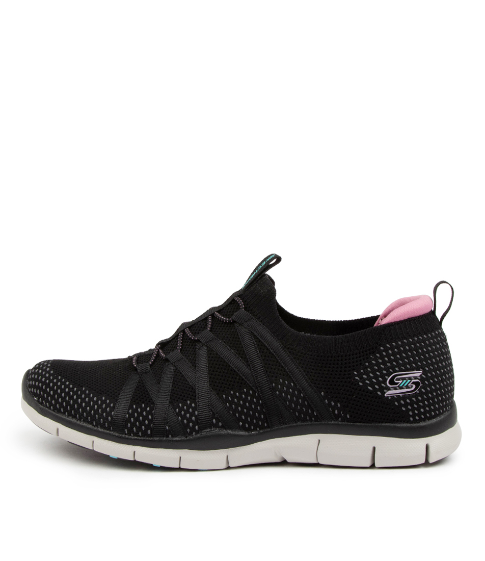 Buy Skechers 104152 Gratis Chic Newness Sk Black Sneakers online with free shipping