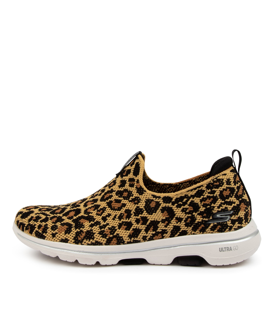 Buy Skechers 124221 Go Walk 5 Wildlife Sk Leopard Sneakers online with free shipping