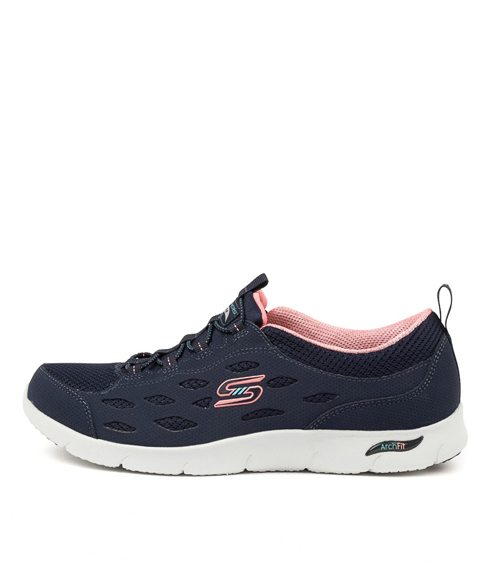 Buy Skechers 104163 Arch Fit Refine Sk Navy Coral Sneakers online with free shipping