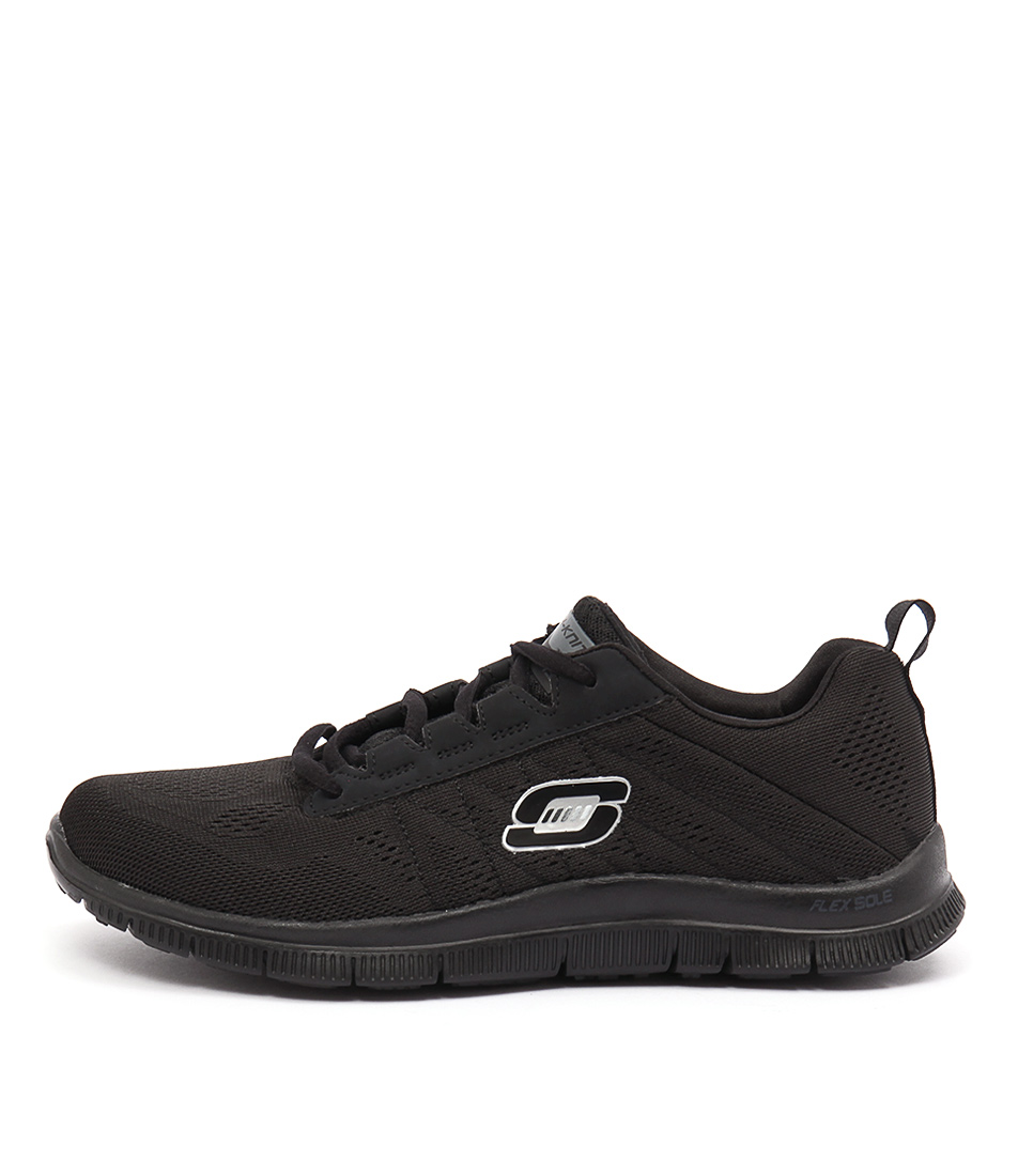 Skechers 11729 Flex Appeal Sweetspot Black Black Sneakers