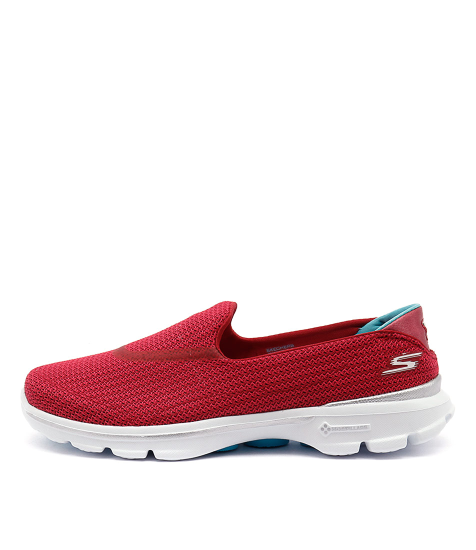 Skechers 13980 Go Walk 3 Red Blue Sneakers