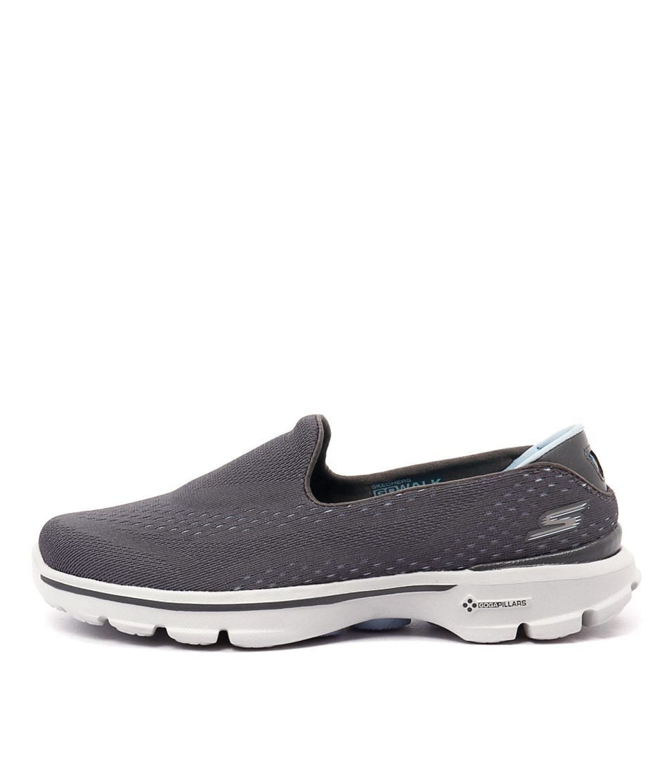 Skechers 14050 Go Walk 3 Charcoal Blue Sneakers