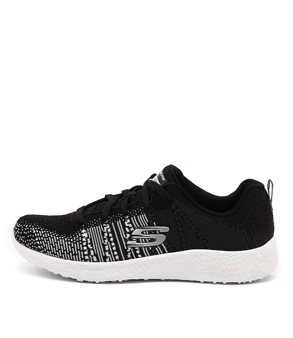 Skechers 12437 Burst Ellipse Black White Sneakers