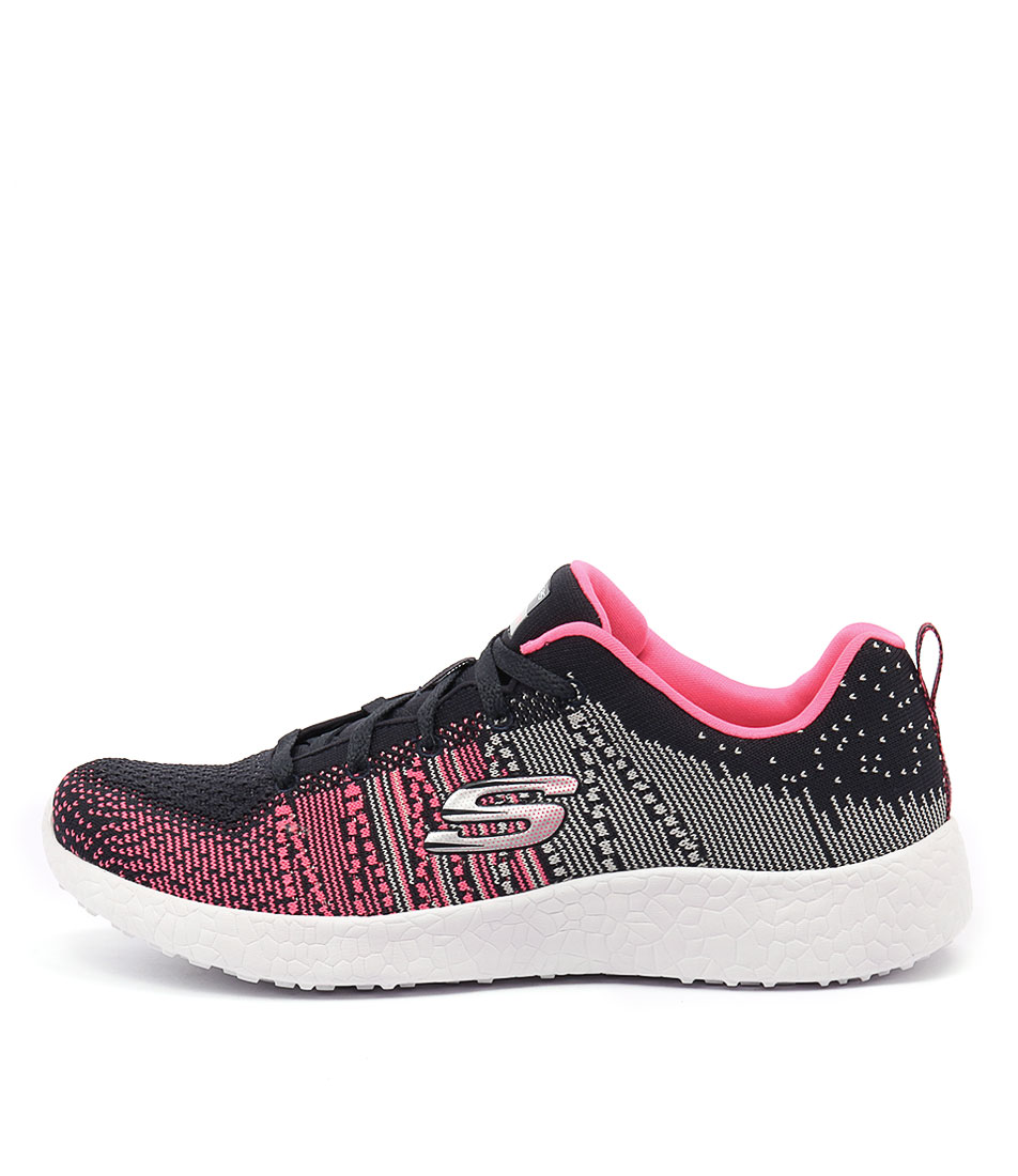 Skechers 12437 Burst Ellipse Charcoal Pink Sneakers