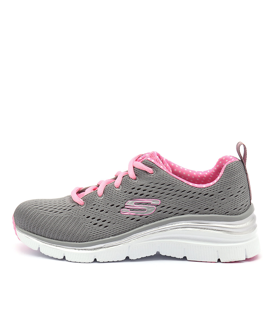 Skechers 12704 Fashion Fit Grey Pink Sneakers