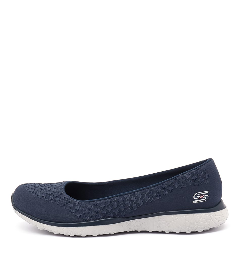 Skechers 23312 Microburst One Up Slate Flat Shoes