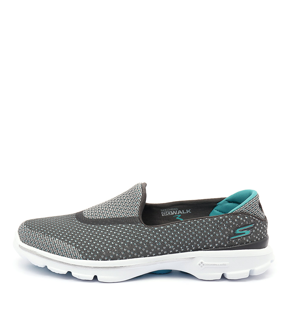 Skechers 14060 Go Walk 3 Go Knit Charcoal Blue Sneakers