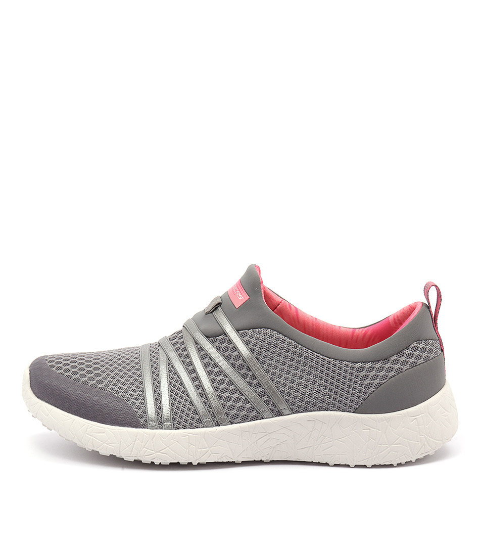 Skechers 12735 Burst Verydaring Grey Coral Sneakers