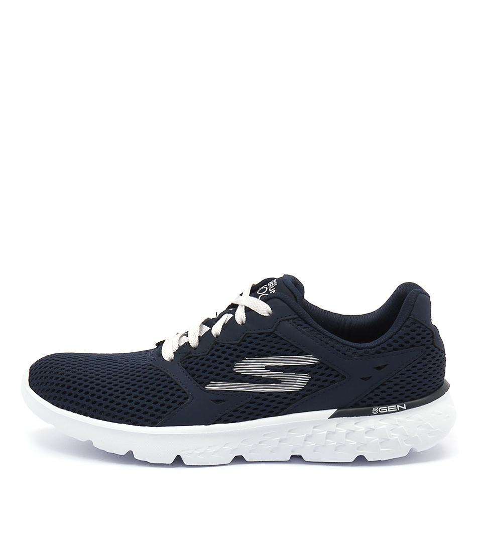 Skechers 14350 Go Run 400 Navy White Sneakers