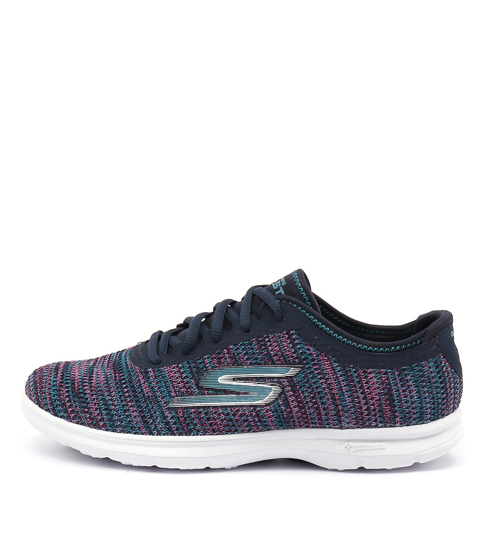 Skechers 14347 Go Step Prismatic Navy Pink Sneakers