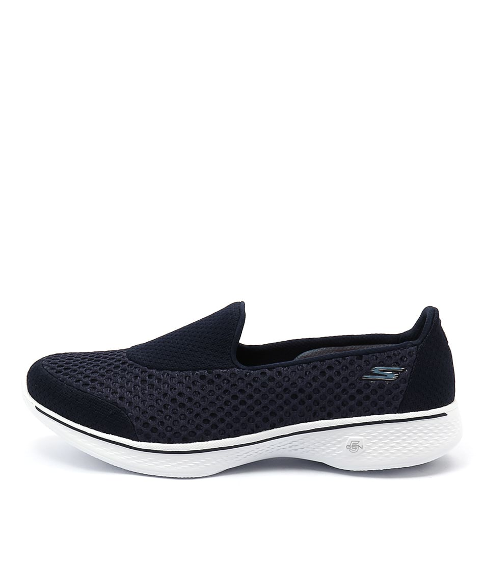 Skechers 14145 Go Walk 4 Kindle Slip On Navy White Sneakers