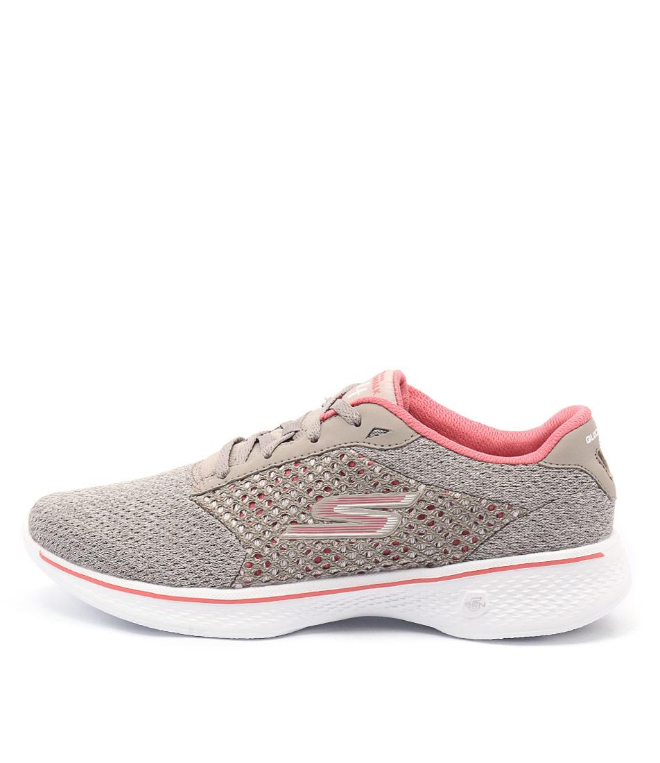 Skechers 14146 Go Walk 4 Exceed Taupe Coral Sneakers