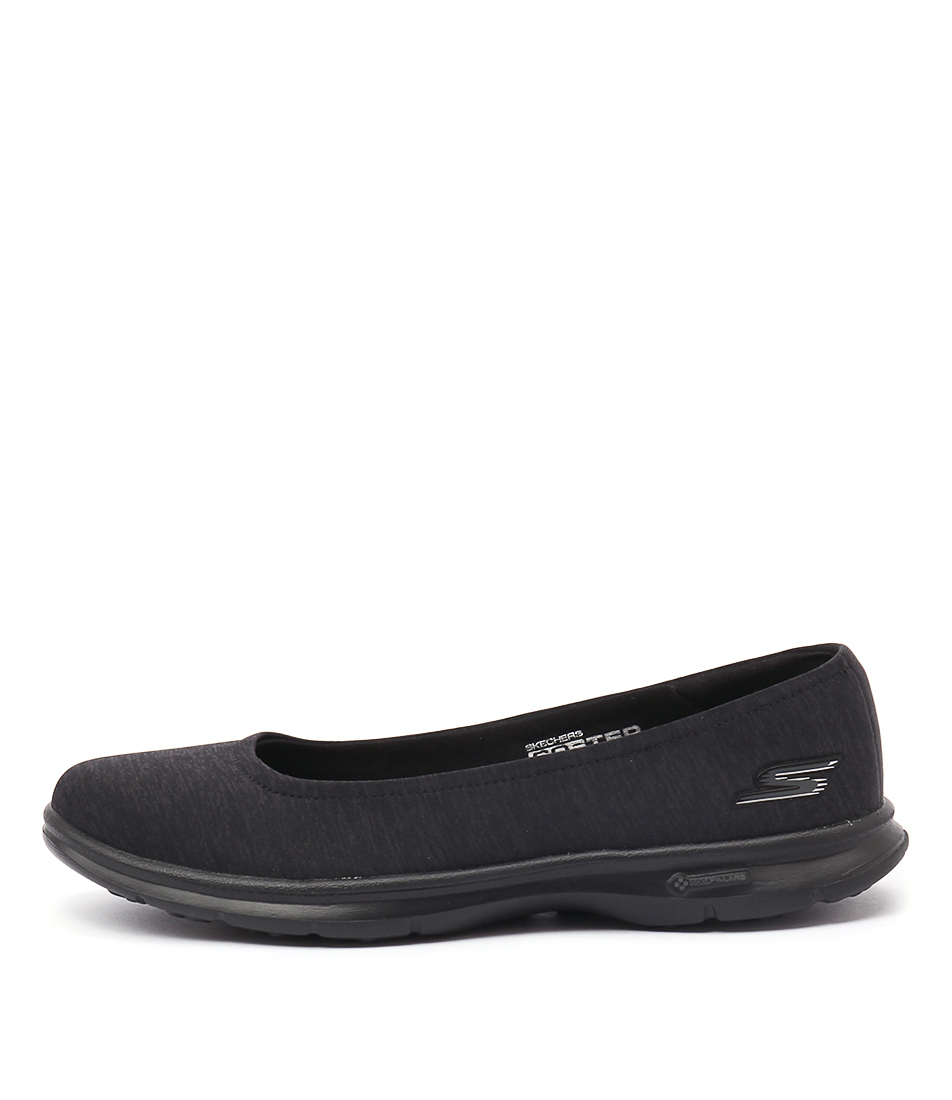Skechers 14205 Go Step Challenge Black Black Casual Flat Shoes