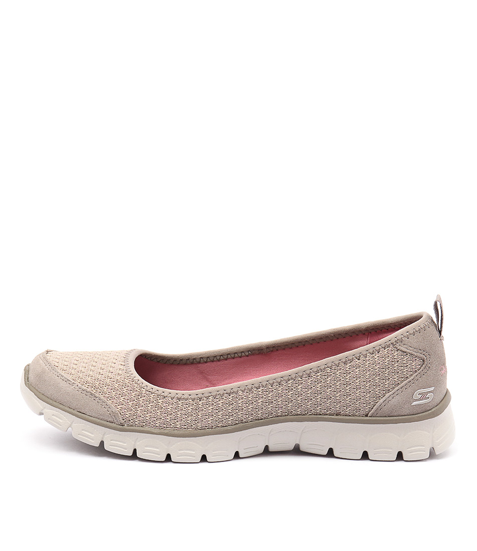 Skechers 23405 Ez Flex 3.0 Serene Scene Taupe Casual Flat Shoes buy  online