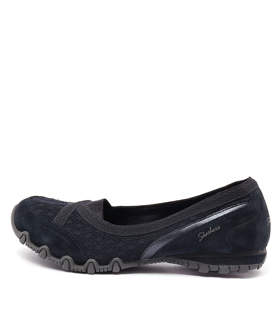 Skechers 49353 Bikers Skim Navy Casual Flat Shoes