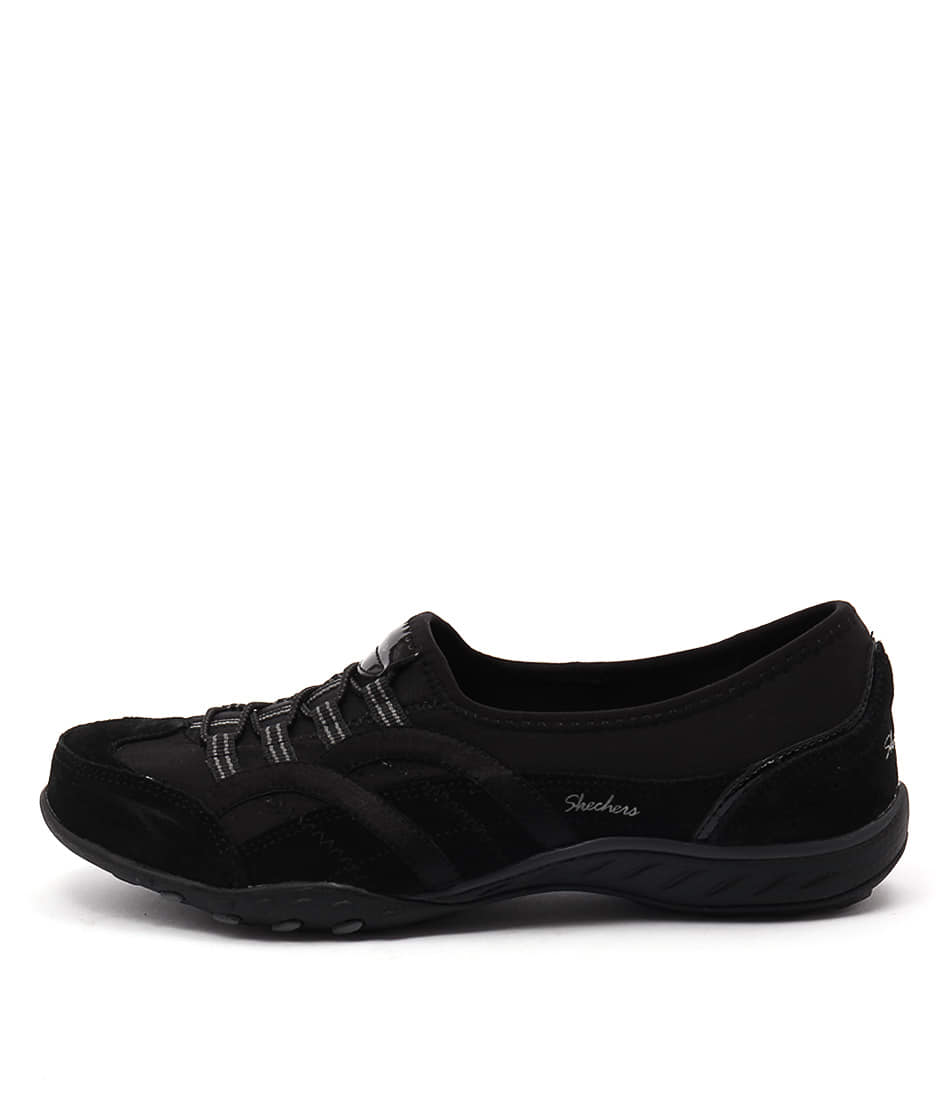 Skechers 23019 Breath Easy Mantra Black Casual Flat Shoes