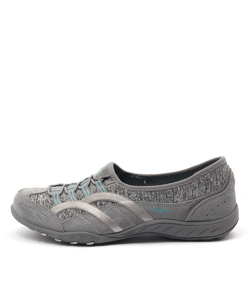 Skechers 23019 Breath Easy Mantra Grey Casual Flat Shoes