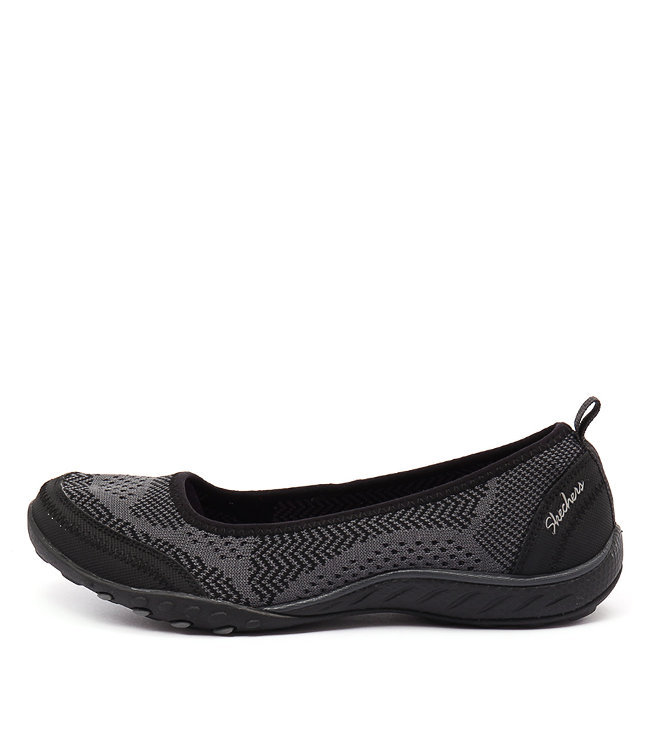 Skechers 23039 Breath Easy Symphony Black Charcoal Sneakers