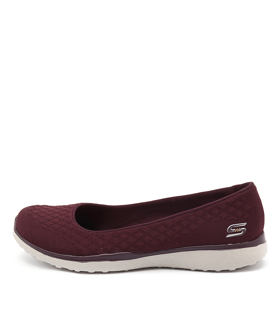 Skechers 23312 Microburst One Up Burgundy Casual Flat Shoes