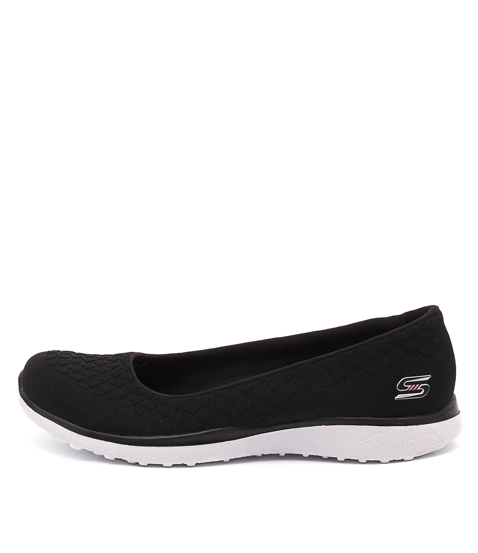 Skechers 23312 Microburst One Up Black White Shoes