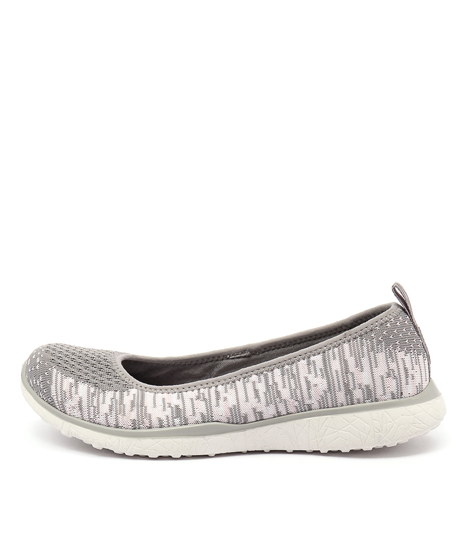 Skechers 23324 Microburst Perfect Note Grey Pink Sneakers
