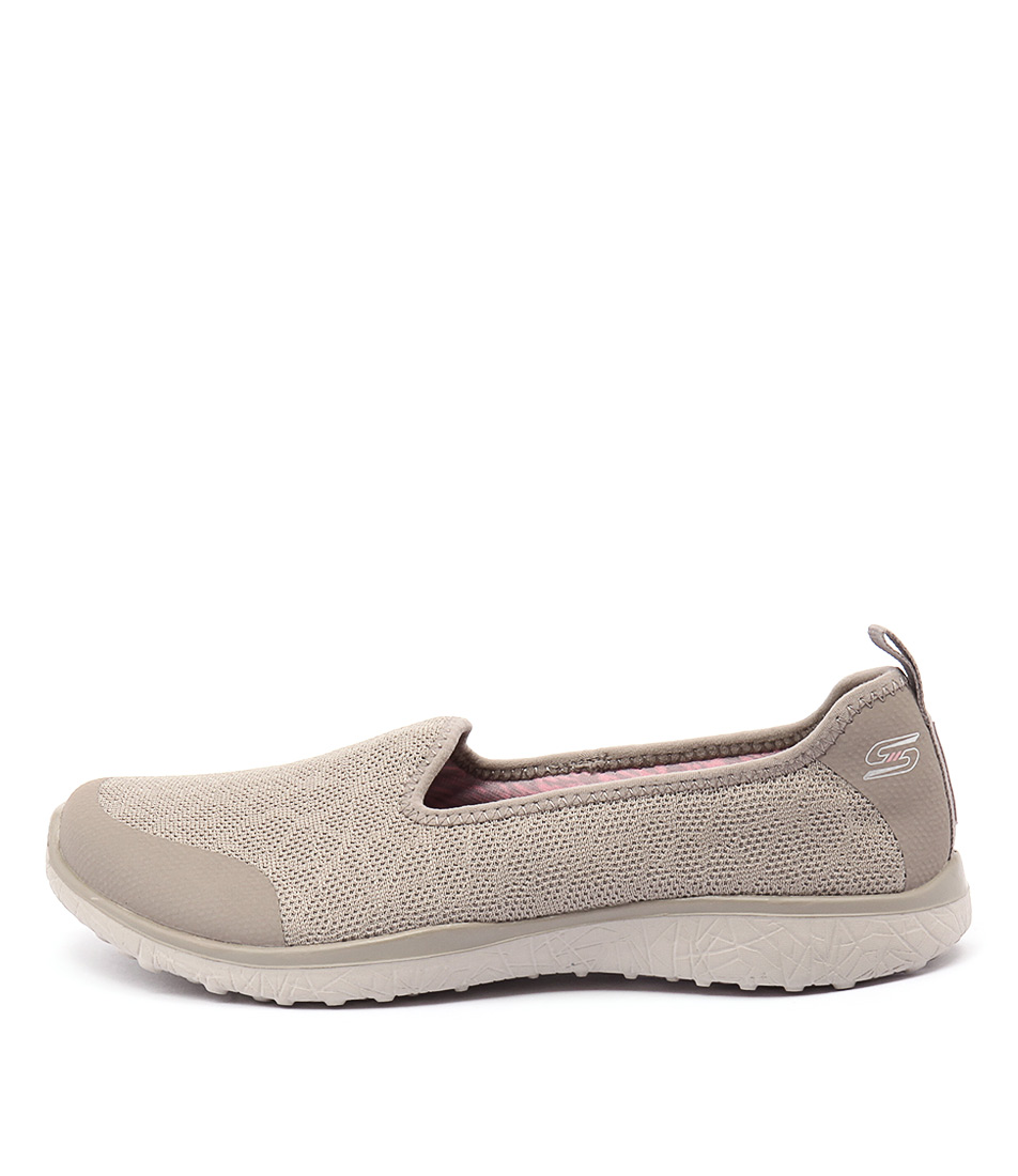 Skechers 23310 Mircoburst Its My Life Taupe Shoes