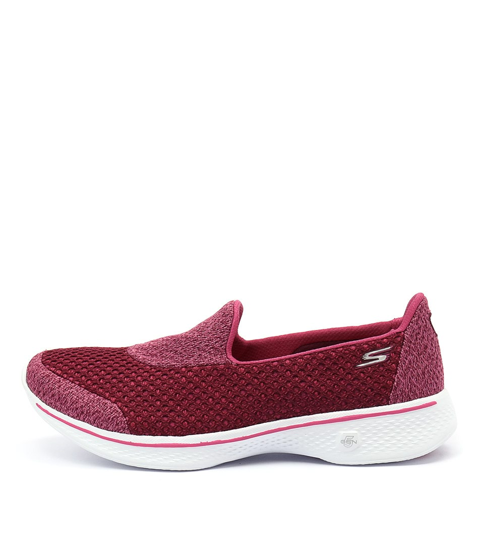 Skechers 14145 Go Walk 4 Kindle Slip On Raspberry Sneakers